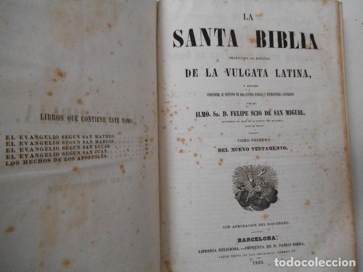 Old books: La Santa Biblia - 1852 - Completa - Laminas Grabados Mapas - Gofrada - P. Riera - Foto 11 - 124025171