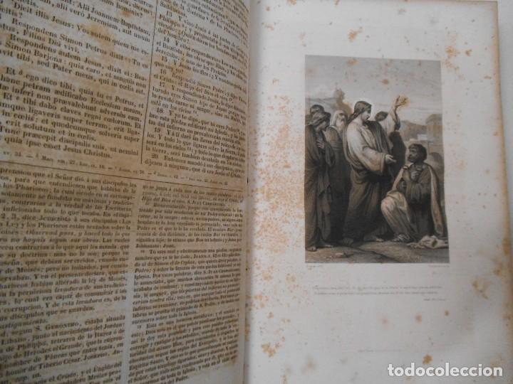 Old books: La Santa Biblia - 1852 - Completa - Laminas Grabados Mapas - Gofrada - P. Riera - Foto 12 - 124025171