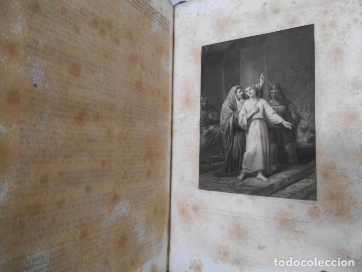 Old books: La Santa Biblia - 1852 - Completa - Laminas Grabados Mapas - Gofrada - P. Riera - Foto 15 - 124025171
