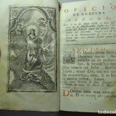 Libros antiguos: OFICIO DE LA SANTÍSIMA VIRGEN MARÍA. VENECIA. 1761. CON GRABADOS.. Lote 124114583