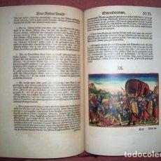 Libros antiguos: BIBLIA DE LUTERO (1534), FACSÍMIL ÍNTEGRO CON GRABADOS EN COLOR, 2 TOMOS. Lote 249202705