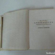 Libros antiguos: HOMO APOSTOLICUS, INSTRUCTUS IN SUA VOCATIONE AD AUDIENCIAS CONFESIONES - CON TOMOS I-II-III- 1833. Lote 125089851