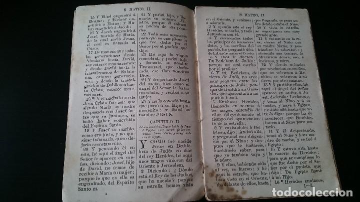 Libros antiguos: EL SANTO EVANGELIO DE NUESTRO SEÑOR JESUCRISTO SEGÚN SAN MATEO - MADRID 1870 - Foto 4 - 125150099
