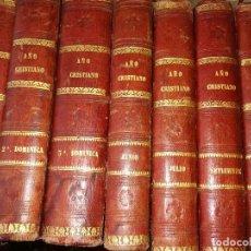 Libros antiguos: AÑO CRISTIANO 1868 POR EL PADRE JUAN CROISSET Y TRADUCIDO POR. Lote 125303483