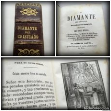 Libros antiguos: EL DIAMANTE DEL CRISTIANO (1850) - BONITA ENCUADERNACIÓN Y MÚLTIPLES GRABADOS. Lote 125415199