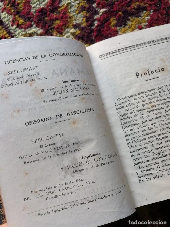 Libros antiguos: SEMANA SANTA OFICIOS DE SEMANA SANTA EN LATIN Y CASTELLANO- RODOLFO FIERRO, LIBRERIA SALESIANA 1930. - Foto 4 - 126158459