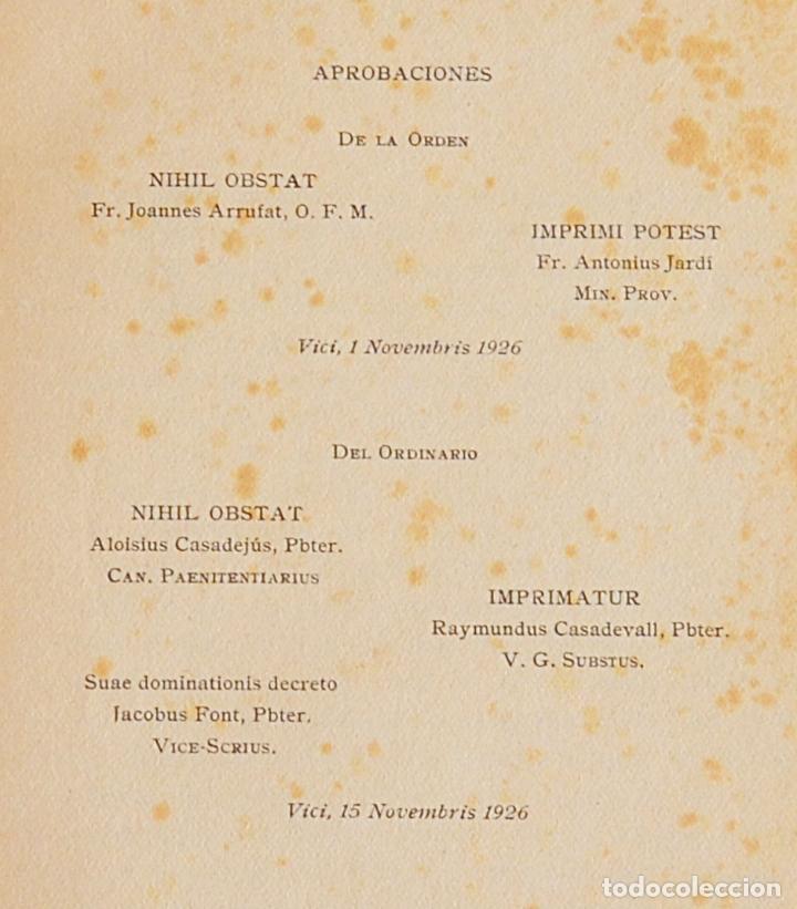 Libros antiguos: FLORECILLAS DE SAN FRANCISCO - ILUSTRACIONE JOSE SEGRELLES - VICH EDITORIAL SERIGRAFICA - 1927 - Foto 3 - 126251363