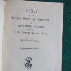 Libros antiguos: REGLA DE LA TERCERA ORDEN DE PENITENCIA 1914. Lote 126256647