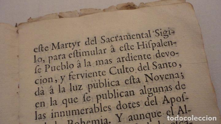 Libros antiguos: NOVENA.SAN JUAN NEPOMUCENO.PARROQUIA STA.MARIA MAGDALENA.SEVILLA SIGLO XVIII.FRANCISCO DE SOLIS - Foto 5 - 127593403