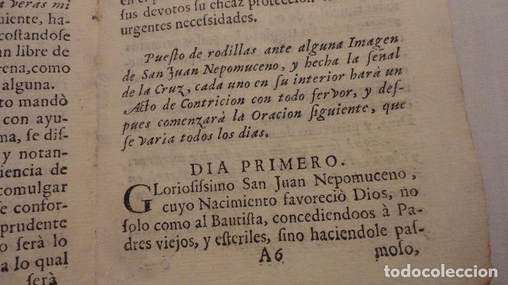 Libros antiguos: NOVENA.SAN JUAN NEPOMUCENO.PARROQUIA STA.MARIA MAGDALENA.SEVILLA SIGLO XVIII.FRANCISCO DE SOLIS - Foto 9 - 127593403