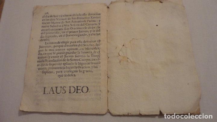 Libros antiguos: NOVENA.SAN JUAN NEPOMUCENO.PARROQUIA STA.MARIA MAGDALENA.SEVILLA SIGLO XVIII.FRANCISCO DE SOLIS - Foto 13 - 127593403