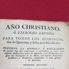 Libros antiguos: AÑO CRISTIANO. Lote 127837562