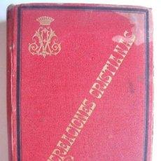 Libros antiguos: TEODORO MARTEL FERNANDEZ DE CORDOBA.-RECREACIONES CRISTIANAS.-RELIGION.-MADRID.-AÑO 1889.. Lote 128106503