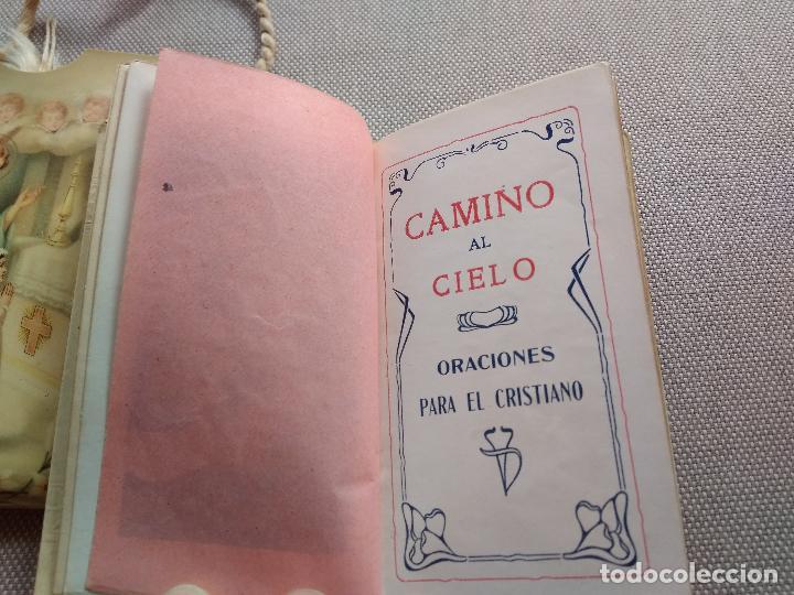Libros antiguos: Libro religioso Camino al cielo. Oraciones - Foto 3 - 128185099