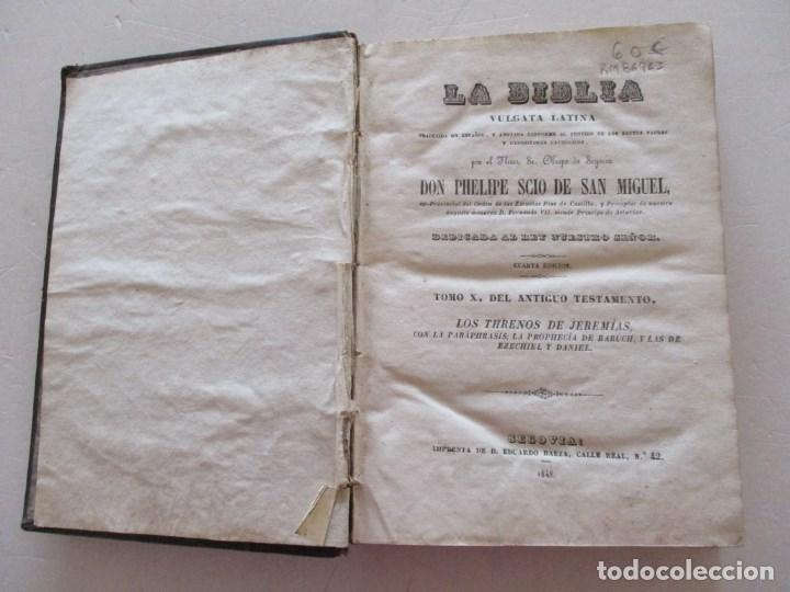 Libros antiguos: DON PHELIPE SCIO DE SAN MIGUEL La Biblia Vulgata Latina,Tomo X .RM86963 - Foto 2 - 128273079