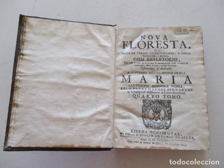 Libros antiguos: PADRE MANOEL BERNARDES. Nova Floresta, ou silva de varios...RM86973 - Foto 2 - 128275555