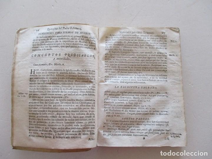 Libros antiguos: FR. FRANCISCO MIGUEL DE ECHEVERZ Quaresma de Sermones... RM86974 - Foto 3 - 128275763