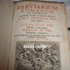 Libros antiguos: BREVIARIUM ROMANUM,EX DECRETO.PII V.CLEMENTIS VIII.URBANI VIII.EN LATIN.ANTUERPEN.1757.. Lote 128910179