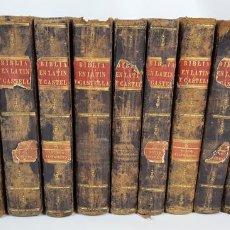 Libros antiguos: LA BIBLIA VULGATA LATINA. 11 TOMOS. PHELIPE SCIO DE SAN MIGUEL. MADRID. 1807/1816. . Lote 129131603