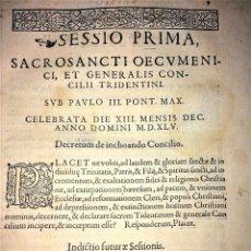Libros antiguos: SACROSANCTI OECUMENICI ET GENERALIS CONCILII TRIDENTINI(...). CLAUDIO BORNAT. BARCELONA. 1564. Lote 130257426