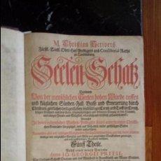 Libros antiguos: LUTERANISMO. CHRISTIAN SCRIVER, PASTOR LUTERANO. LIBRO EN ALEMÁN.. Lote 130821612