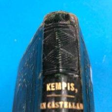Libros antiguos: DE LA IMITACIÓN DE CRISTO - T. DE KEMPIS - 1887 PLENA PIEL CON GRABADOS. Lote 130930168