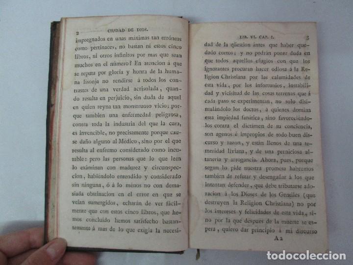 Libros antiguos: LA CIUDAD DE DIOS DEL GRAN PADRE Y DOCTOR DE LA IGLESIA SAN AGUSTIN OBISPO DE HIPONA. TOMO IV. 1793. - Foto 10 - 131307251