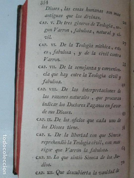 Libros antiguos: LA CIUDAD DE DIOS DEL GRAN PADRE Y DOCTOR DE LA IGLESIA SAN AGUSTIN OBISPO DE HIPONA. TOMO IV. 1793. - Foto 22 - 131307251