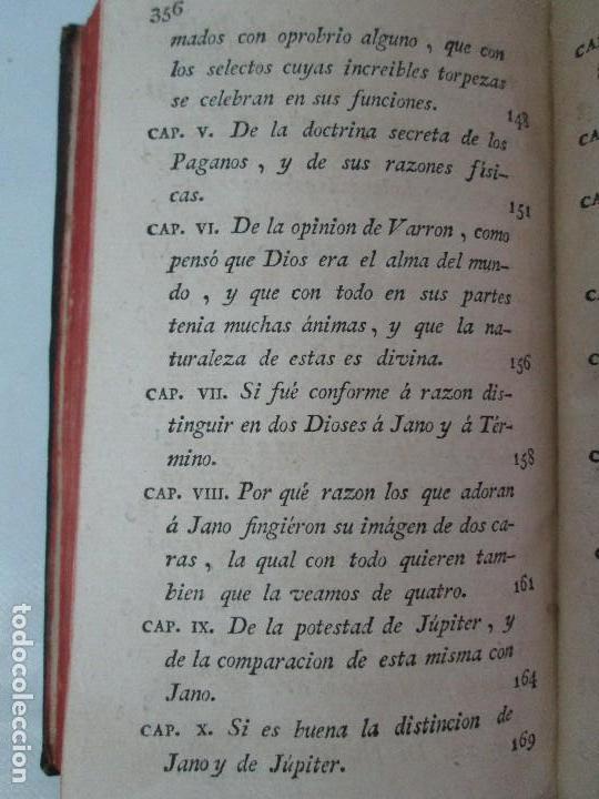 Libros antiguos: LA CIUDAD DE DIOS DEL GRAN PADRE Y DOCTOR DE LA IGLESIA SAN AGUSTIN OBISPO DE HIPONA. TOMO IV. 1793. - Foto 24 - 131307251