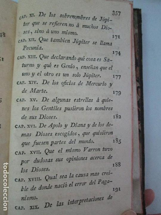 Libros antiguos: LA CIUDAD DE DIOS DEL GRAN PADRE Y DOCTOR DE LA IGLESIA SAN AGUSTIN OBISPO DE HIPONA. TOMO IV. 1793. - Foto 25 - 131307251