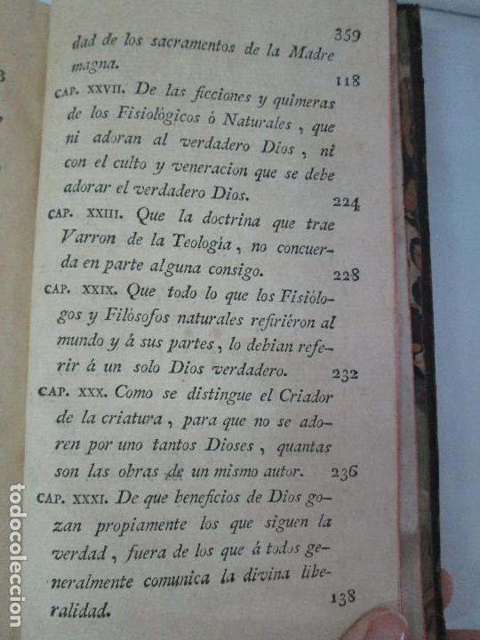 Libros antiguos: LA CIUDAD DE DIOS DEL GRAN PADRE Y DOCTOR DE LA IGLESIA SAN AGUSTIN OBISPO DE HIPONA. TOMO IV. 1793. - Foto 27 - 131307251