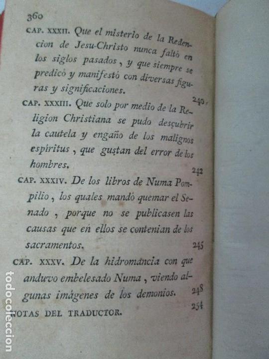 Libros antiguos: LA CIUDAD DE DIOS DEL GRAN PADRE Y DOCTOR DE LA IGLESIA SAN AGUSTIN OBISPO DE HIPONA. TOMO IV. 1793. - Foto 28 - 131307251
