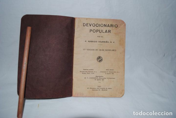 DEVOCIONARIO POPULAR . P. VILARIÑO (Libros Antiguos, Raros y Curiosos - Religión)
