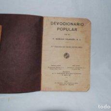Libros antiguos: DEVOCIONARIO POPULAR . P. VILARIÑO . Lote 131739926