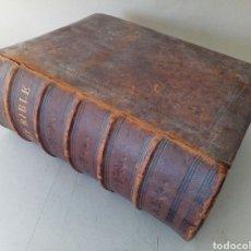 Libros antiguos: HOLY BIBLE. SAGRADA BIBLIA CON GRABADOS. ...ENORME.... Lote 131922545