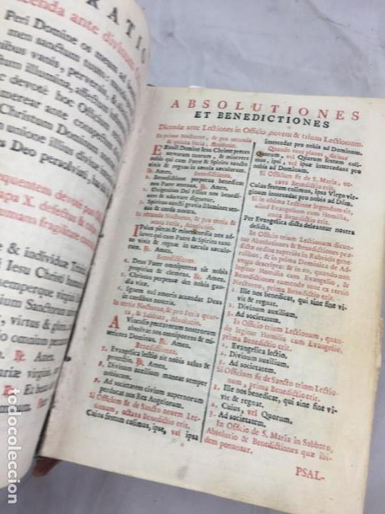 Libros antiguos: Breviarium Romanum Matriti 1778 dos tintas pátina uso, marcas de uso grabados - Foto 9 - 132135990