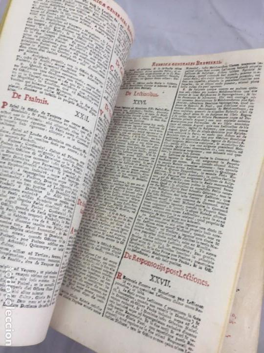 Libros antiguos: Breviarium Romanum Matriti 1778 dos tintas pátina uso, marcas de uso grabados - Foto 10 - 132135990