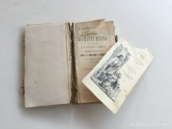 Libros antiguos: Novísimo Diamante Divino - Foto 3 - 132206282
