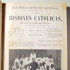 Libros antiguos: ILUSTRACIÓN RELIGIOSA. LAS MISIONES CATÓLICAS (NÚM. 1 A 50) - BARCELONA 1873-1874 - ILUSTRADO. Lote 132262289