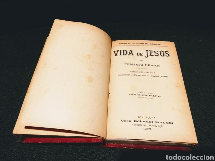 Libros antiguos: VIDA DE JESÚS - ERNESTO RENAN.CASA EDITORIAL MAUCCI.BARCELONA.AÑO 1897 - Foto 3 - 132435931