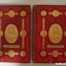 Libros antiguos: JESUCRISTO POR M. LOUIS VEUILLOT. BELLA OBRA EN 2 VOL. GRAN FOLIO.1881. GRABADOS. Lote 132562722