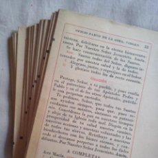 Libros antiguos: LIBROS: OFICIO PARVO DE LA SANTÍSIMA VIRGEN MARÍA Y DE DIFUNTOS. INCOMPLETO (ABLN). Lote 132577054