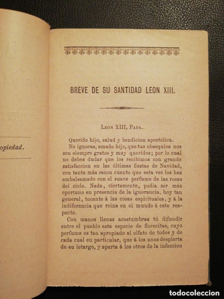 Libros antiguos: Libro Las Tres Rosas de los Escogidos - Monseñor de Segur 1890 - Foto 4 - 132695834