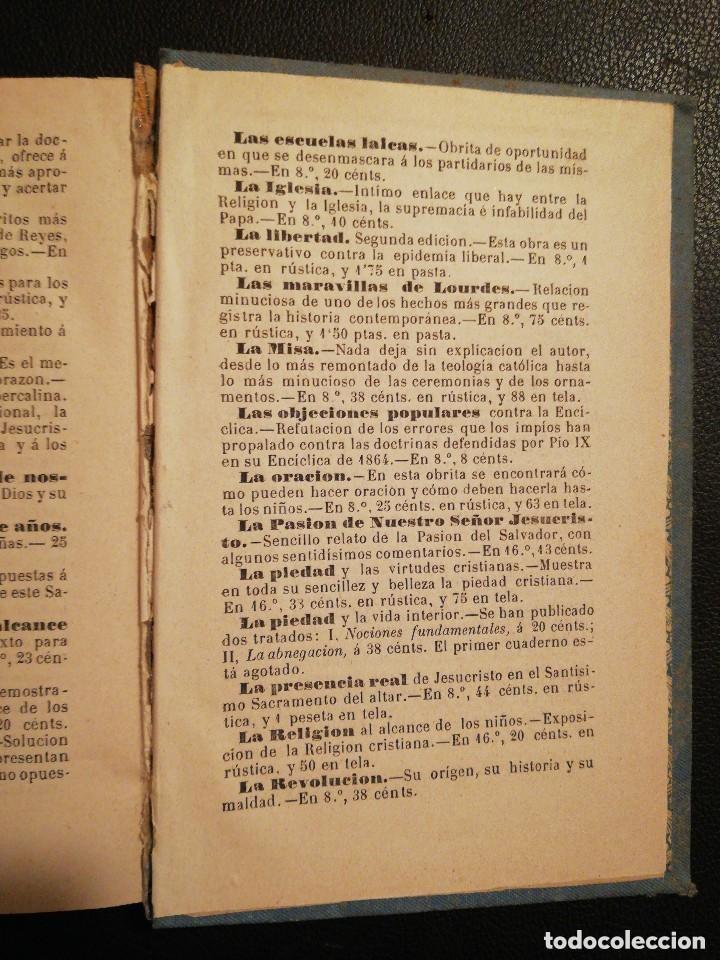 Libros antiguos: Libro Las Tres Rosas de los Escogidos - Monseñor de Segur 1890 - Foto 9 - 132695834