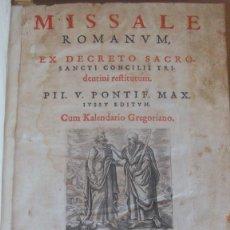 Libros antiguos: MISSALE ROMANORUM EX DECRETO SACROSANCTI CONCILII TRIDENTINI. SALAMANCA 1588. IMPRENTA MÚSICA MISAL. Lote 132815134