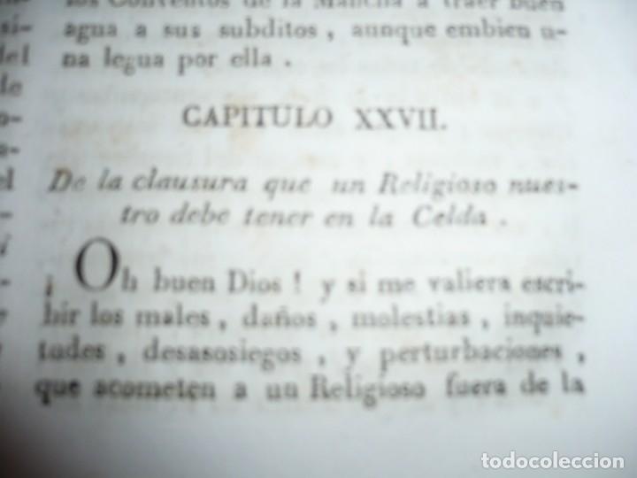 Libros antiguos: OBRAS DEL BEATO JUAN BAUTISTA DE LA CONCEPCION 1831 ROMA TOMO 7º DOCTRINAL - Foto 7 - 133176822