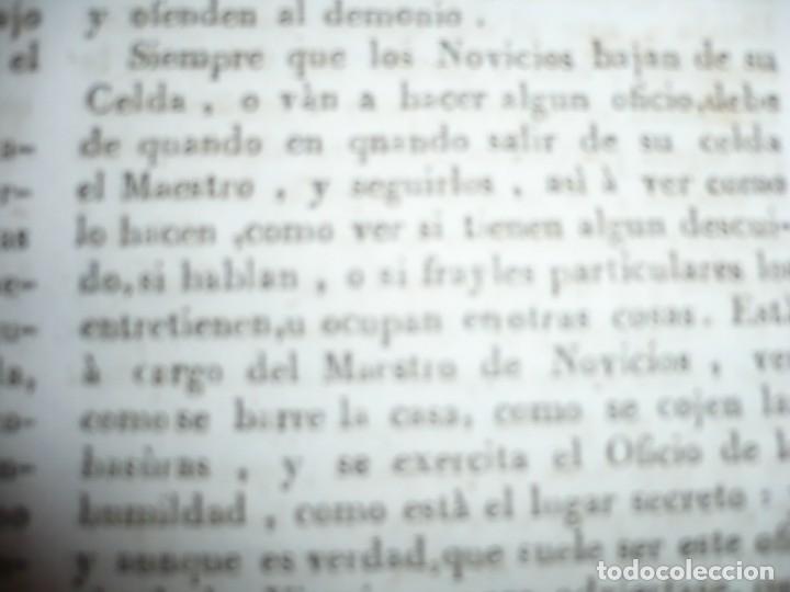 Libros antiguos: OBRAS DEL BEATO JUAN BAUTISTA DE LA CONCEPCION 1831 ROMA TOMO 7º DOCTRINAL - Foto 8 - 133176822