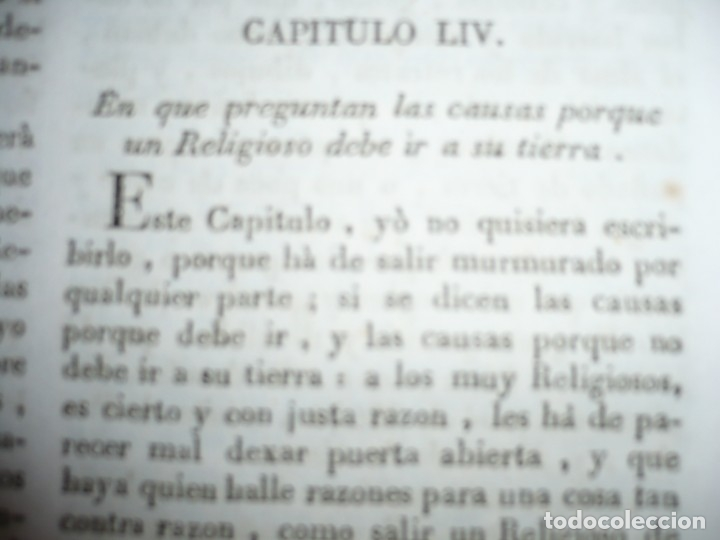 Libros antiguos: OBRAS DEL BEATO JUAN BAUTISTA DE LA CONCEPCION 1831 ROMA TOMO 7º DOCTRINAL - Foto 9 - 133176822