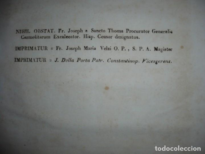 Libros antiguos: OBRAS DEL BEATO JUAN BAUTISTA DE LA CONCEPCION 1831 ROMA TOMO 7º DOCTRINAL - Foto 10 - 133176822