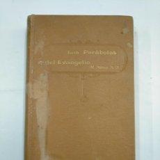 Libros antiguos: LAS PARABOLAS DEL EVANGELIO. P. MANUEL SAINZ S.J. MENSAJERO DEL CORAZON DE JESUS BILBAO 1915 TDK290. Lote 133230534